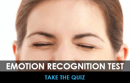 Take an emotion recognition quiz with women smiling in the background